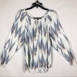 Love Stitch Flowy Boho Pastel Shirt w/Tassels S